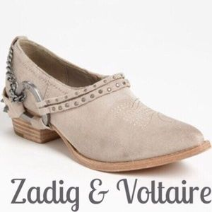Zadig & Voltaire sand parke studded suede bootie